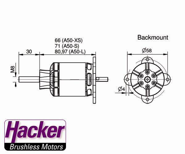 HACKER A50-12S V4 (KV480) ブラシレスモーター