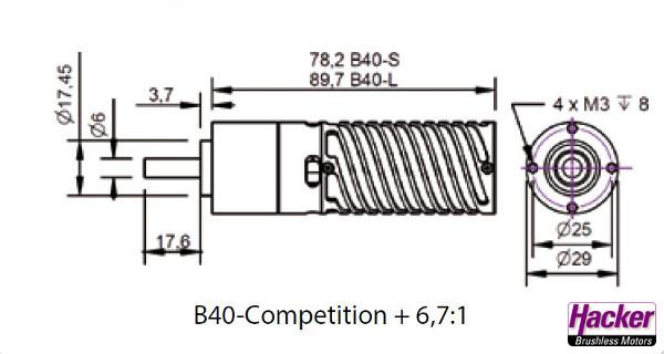 HACKER B40-8L Comp + 6.7:1