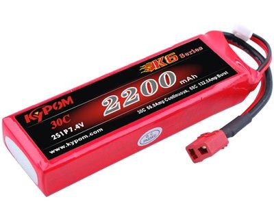 キーポン KYPOM リポバッテリー K6 7.4V2200mAh 30C (KT2200/30-2S)