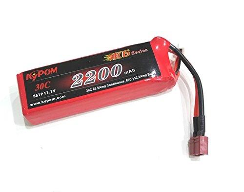キーポン KYPOM リポバッテリー K6 11.1V2200mAh 30C (KT2200/30-3S)