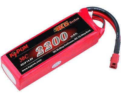 キーポン KYPOM リポバッテリー K6 14.8V2200mAh 30C (KT2200/30-4S)