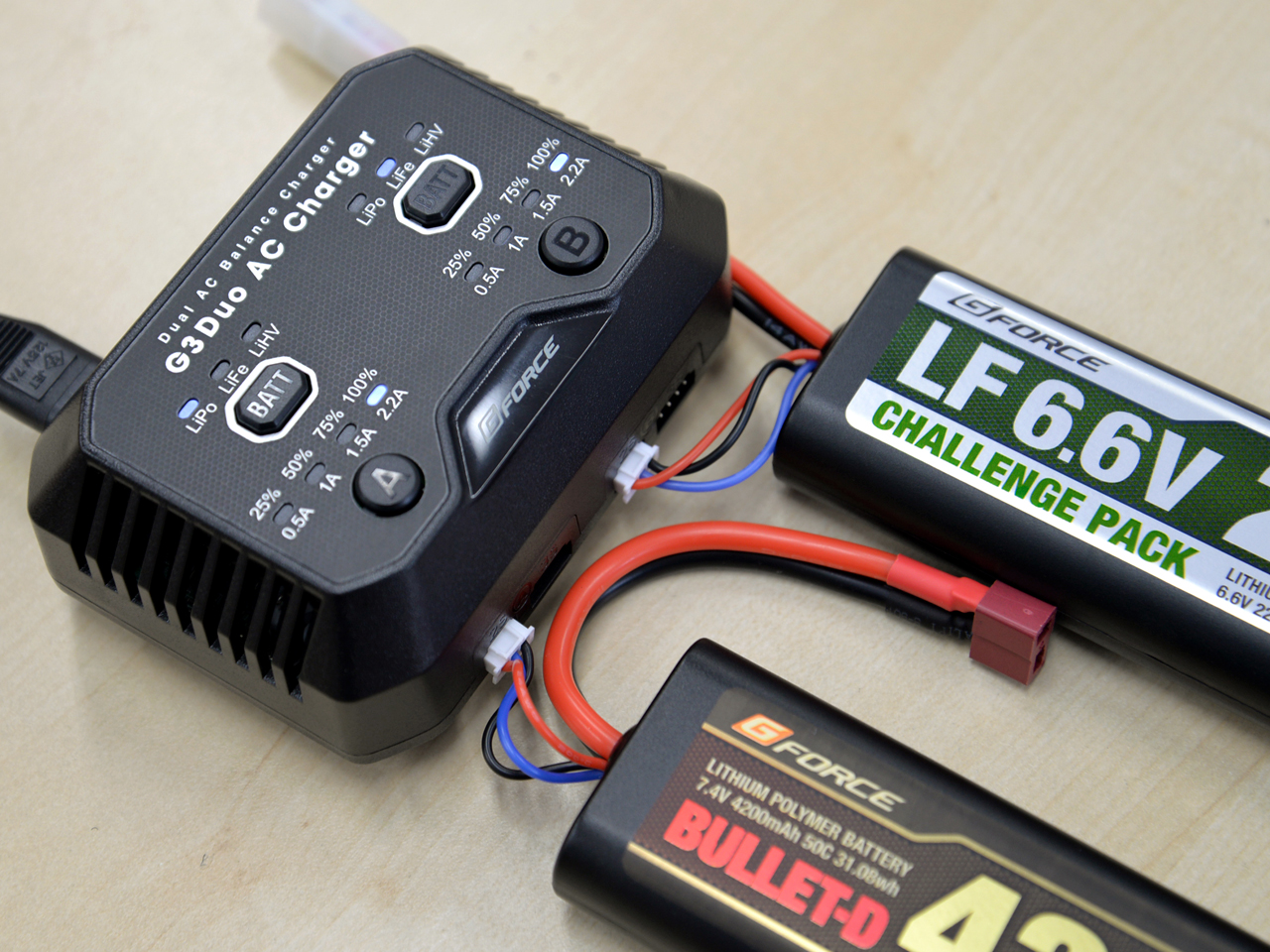 G-FORCE G3 DUO LiPo/LiFe AC専用充電器(2-3セル) G3 DUO CHARGER G0318