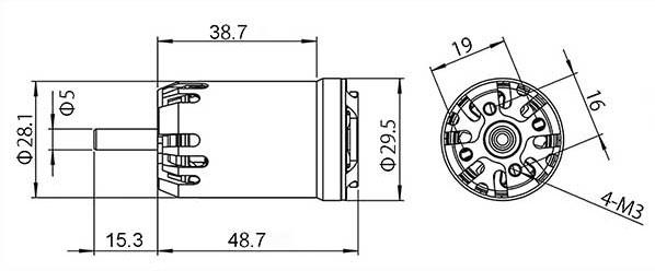 Tahmazo CR-282514d ブラシレスモーター