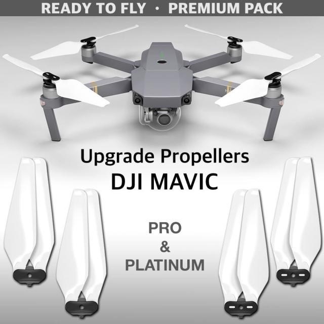 MA DJI Mavic Pro & Pro Platinum用アップグレード・プロペラ  MR-MC 8.3x4.4  (白)4本セット