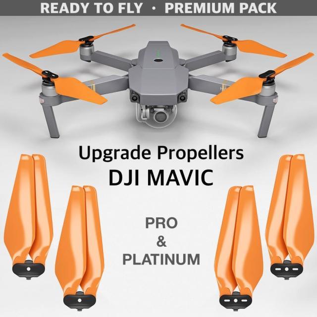 MA DJI Mavic Pro & Pro Platinum用アップグレード・プロペラ  MR-MC 8.3x4.4  (オレンジ)4本セット