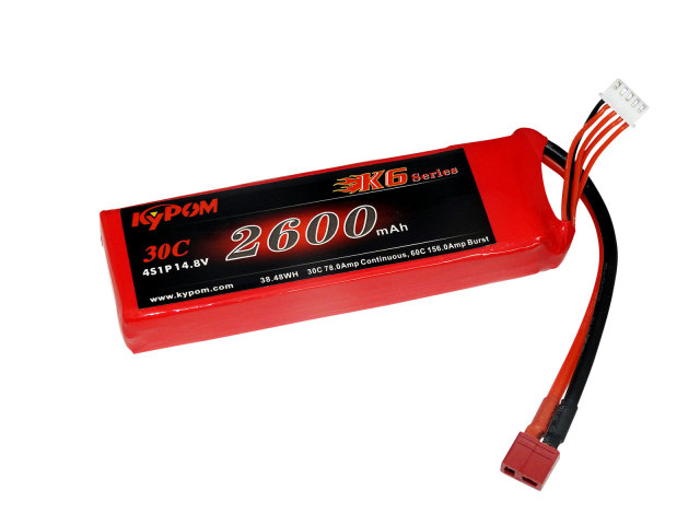キーポン KYPOM リポバッテリー K6 14.8V2600mAh 30C