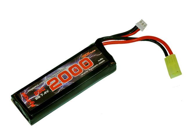 キーポン KYPOM 電動ガン用リポバッテリー 7.4V2000mAh 30C