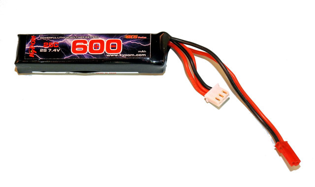 キーポン KYPOM 電動ガン用リポバッテリー 7.4V600mAh 25C