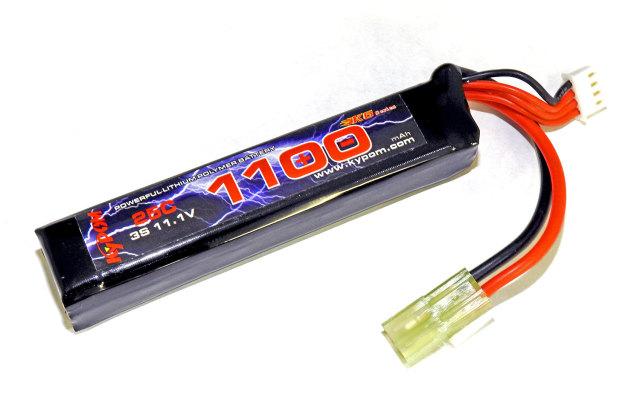 キーポン KYPOM 電動ガン用リポバッテリー 11.1V1100mAh 25C