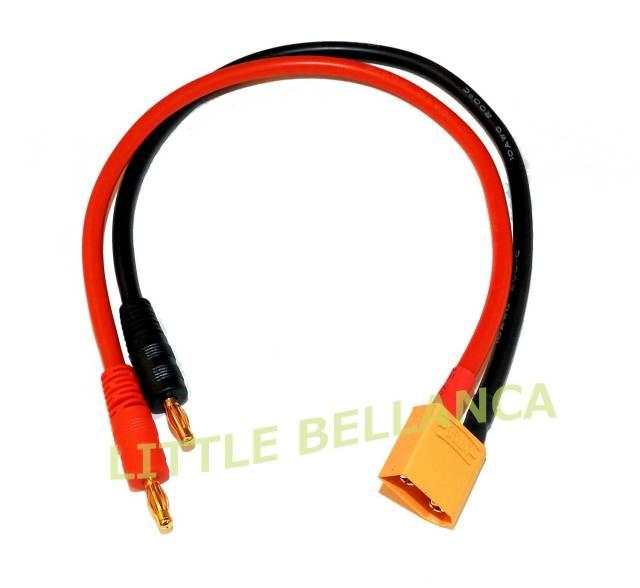 LB XT90コネクター用充電ケーブル(10AWG/300mm)