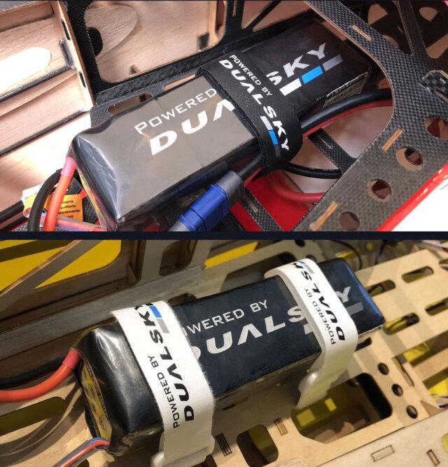 DUALSKY バッテリーファスナー 200mm 4本入り