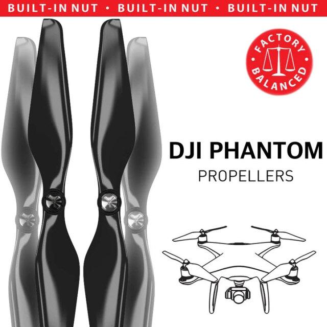 MAS DJI Phantom 1-3用アップグレードプロペラ C (黒) 9.4x5 4本セット