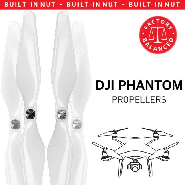 MAS DJI Phantom 1-3用アップグレードプロペラ C (白) 9.4x5 4本セット