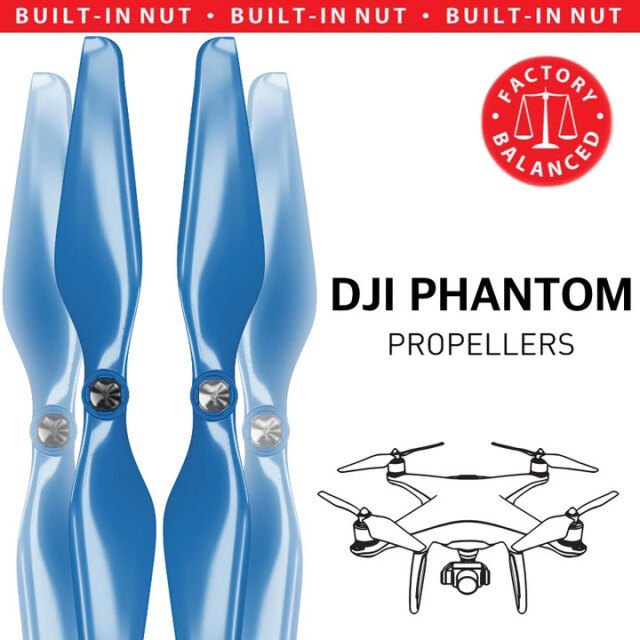 MAS DJI Phantom 1-3用アップグレードプロペラ C (青) 9.4x5 4本セット