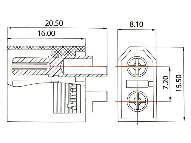 AMASS 純正XT60コネクターオスメス1セット