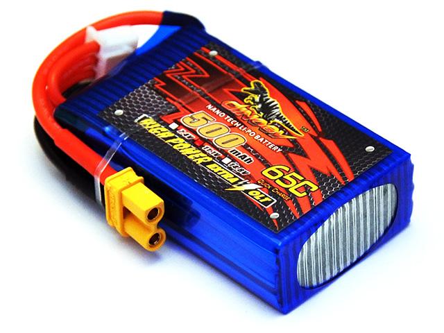 DINOGY ダイノジー リポバッテリー 11.1V500mAh 65C XT30 (LC-3S500H) ミニFPVレーサーに最適