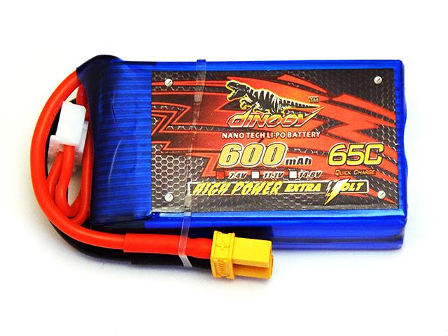 DINOGY ダイノジー リポバッテリー 7.4V600mAh 65C XT30 (LC-2S600H) ミニFPVレーサーに最適
